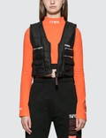 Heron Preston Fire Multi Pockets Vest Jacket Black Women