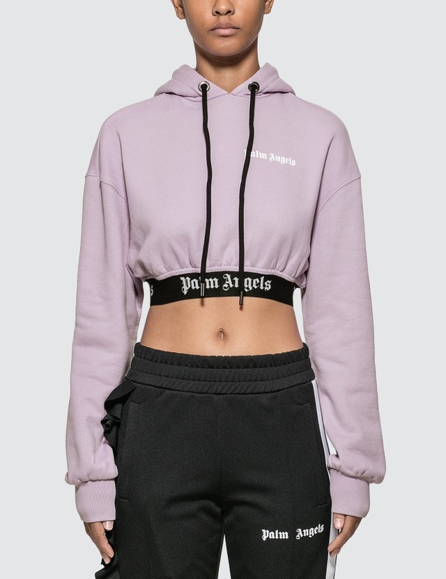 Palm Angels New Basic Cropped Hoody