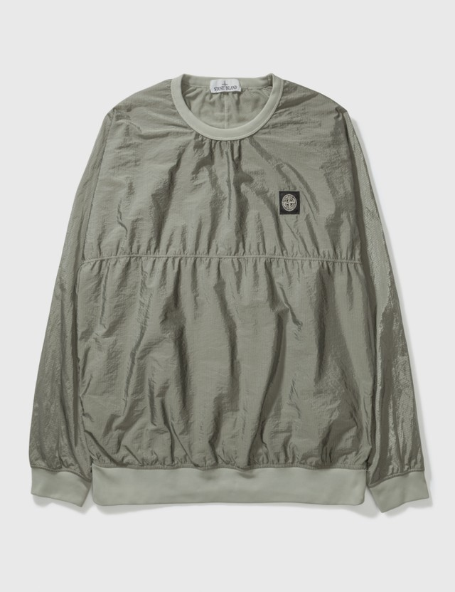Stone Island Stone Island Ribstop Polyester Long Top Green Archives