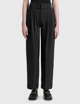 Ganni Heavy Crepe High-rise Straight Pants