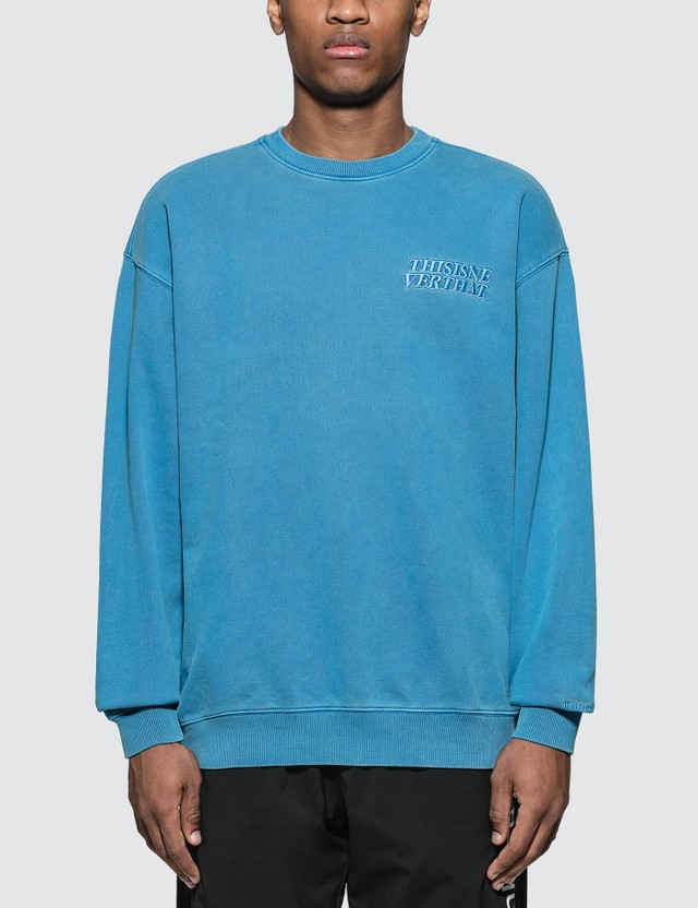 Thisisneverthat Ace Logo Overdyed Sweater