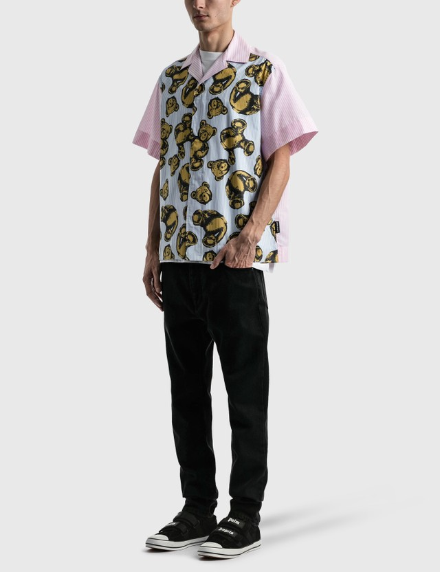 Palm Angels Allover Bears Bowling Shirt Multi Men