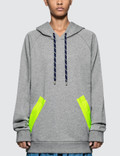 Maison Margiela Fleece Hoodie With Neon Tapes Picutre