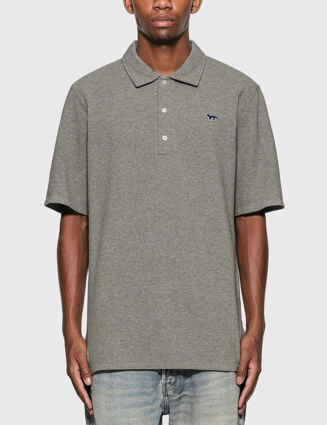 Maison Kitsune Navy Fox Patch Polo