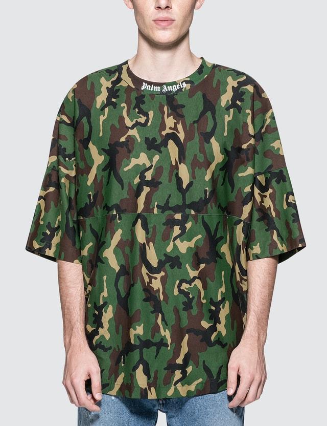 9e7fef929147b Palm Angels - Camo Logo Over S/S T-Shirt | HBX
