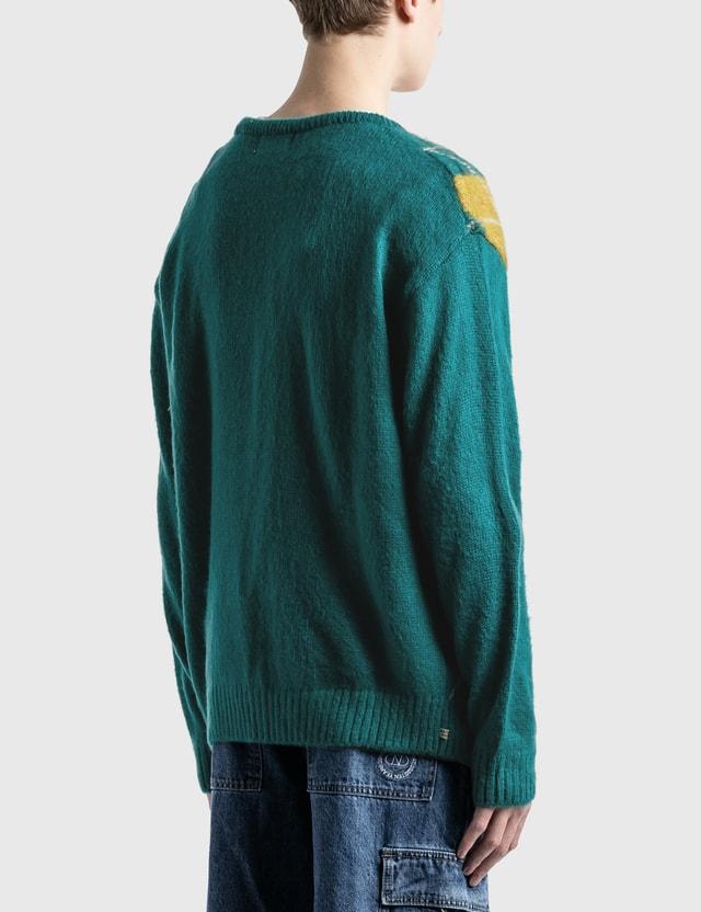 Thisisneverthat Argyle Cardigan Green Men