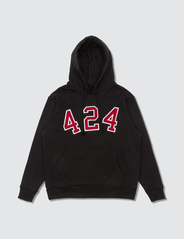424 Logo Hoodie Black