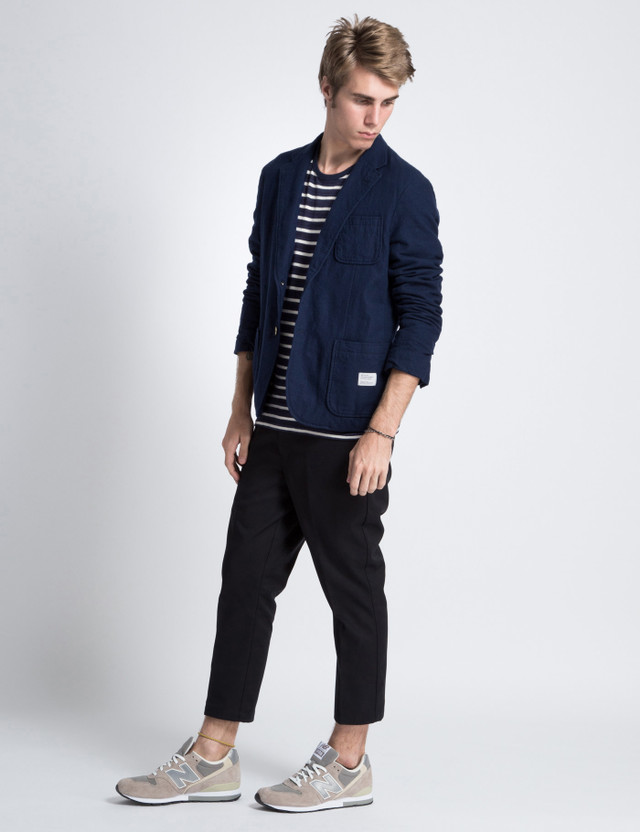 """Bedwin & The Heartbreakers Navy 2B Wool """"Michael"""" Blazer Jacket"""