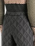 Marine Serre Jacquard Jersey Pants 0 Black Women