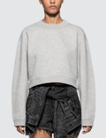 Alexander Wang.T Heavy French Terry Cropped Pullover Picture