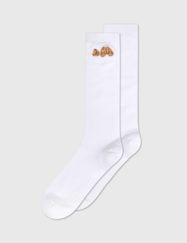 Palm Angels Palm Angels Bear Socks White Women