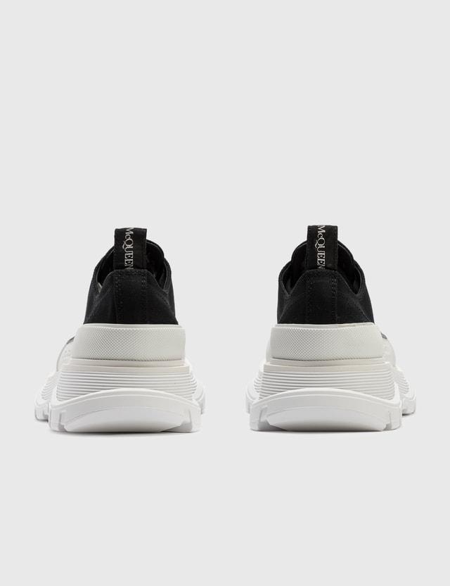 Alexander McQueen Tread Slick Lace Up Sneaker Black/whi/black Men