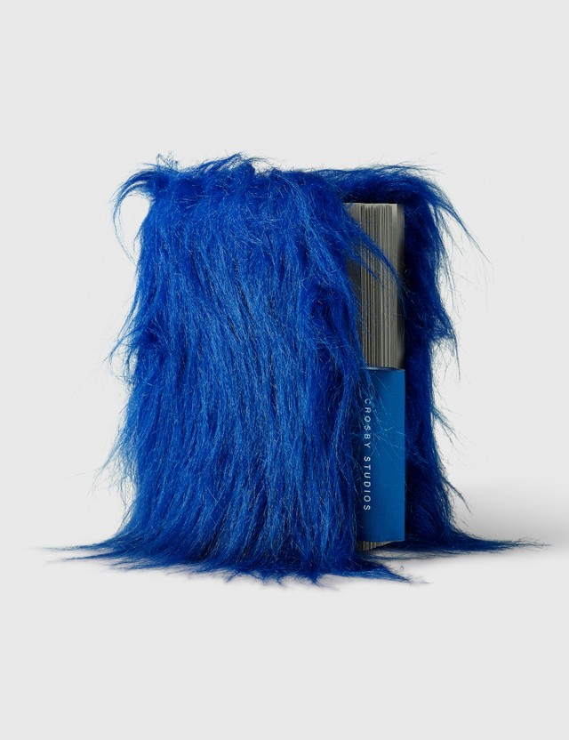 Crosby Studios Blue Furry Notebook