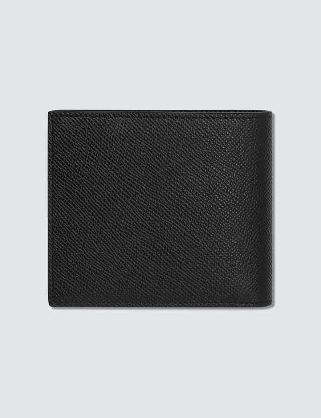 Burberry Grainy Leather International Bifold Wallet Black Men