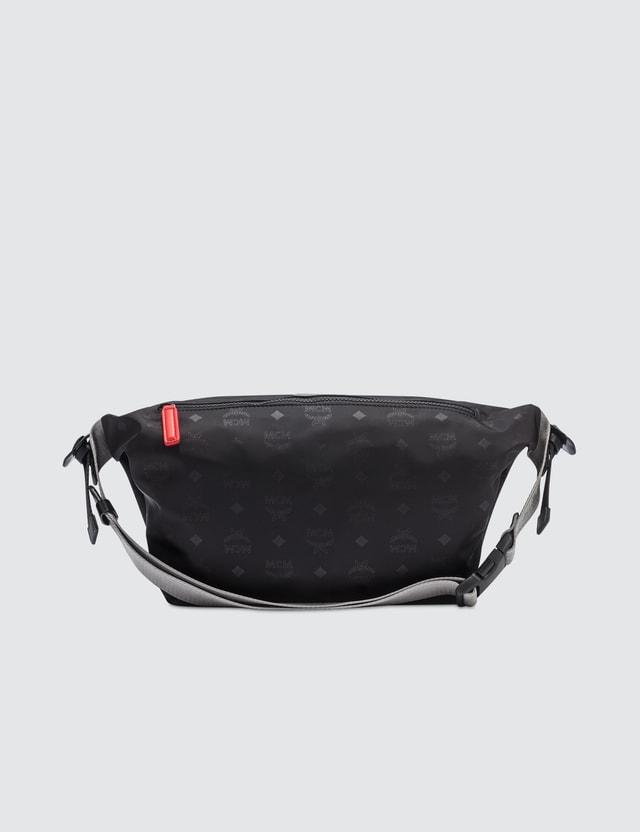 MCM Resnick Monogrammed Nylon Belt Bag