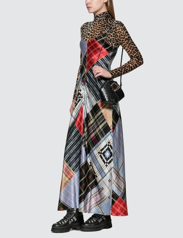 Ganni Silk Stretch Satin Slip Dress