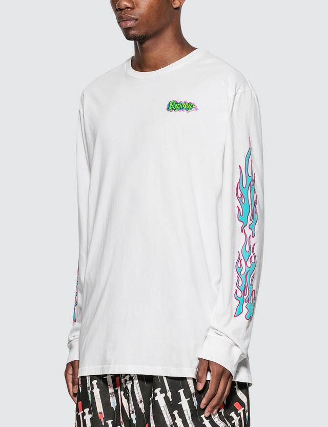 RIPNDIP Flaming Hot Long Sleeve T-Shirt =e28 Men