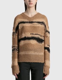 Acne Studios Keren Irregular Stripe Knit Pullover