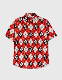 BAPE Bape Diamond Print Short Sleeves Shirt