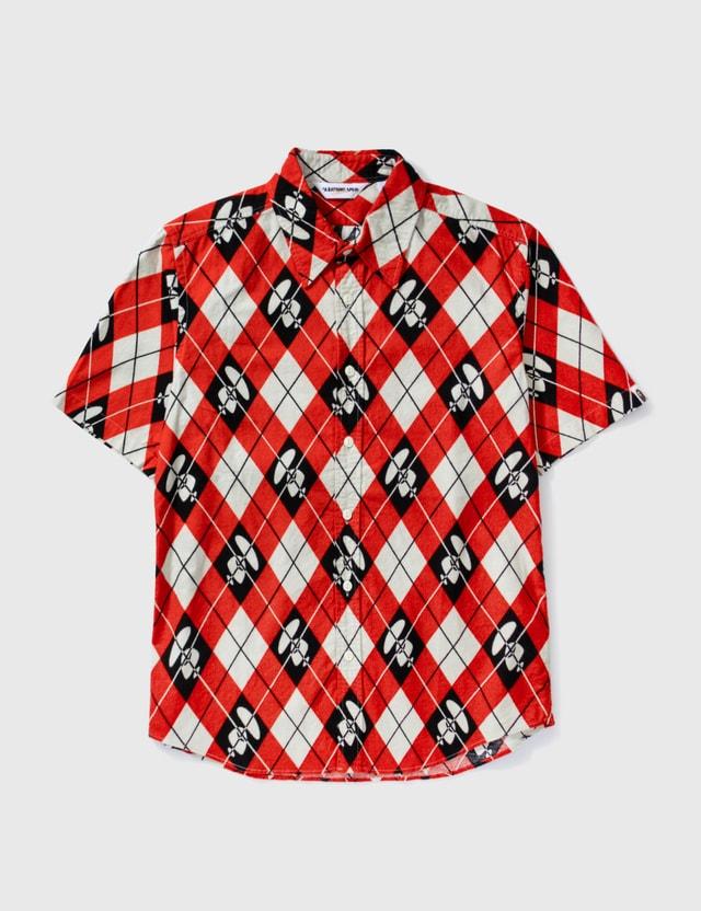 BAPE Bape Diamond Print Short Sleeves Shirt Red Archives
