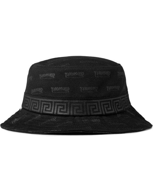 3aa2ae79543b Huf - HUF x THRASHER Black Asia Bucket Hat