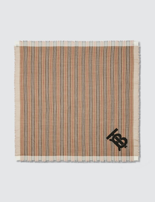 Burberry Monogram Motif Large Square Scarf
