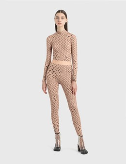 Marine Serre Printed Jersey Tights
