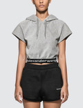 Alexander Wang.T Stretch Courdroy Cap Sleeve Hoodie Picture