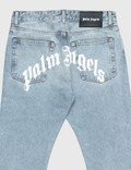Palm Angels Back Logo 5 Pockets Jeans Blue Men