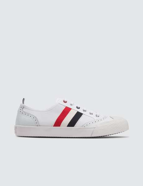탐 브라운 Thom Browne Brogued Canvas Trainer