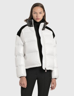 Moncler Velvet Panelled Down Jacket