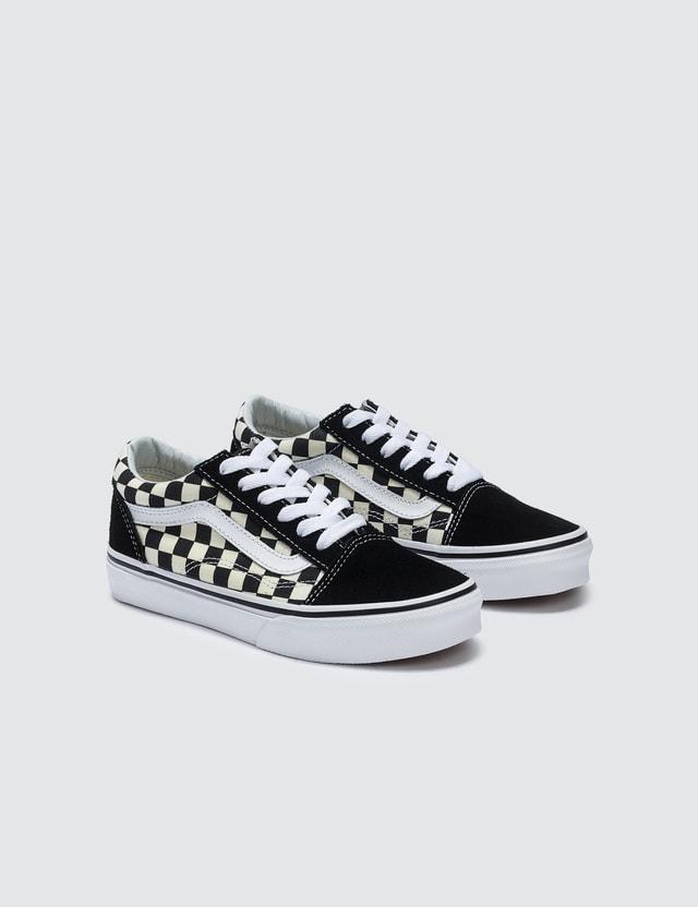 Vans Old Skool Kids (primary Check) Black/white Kids