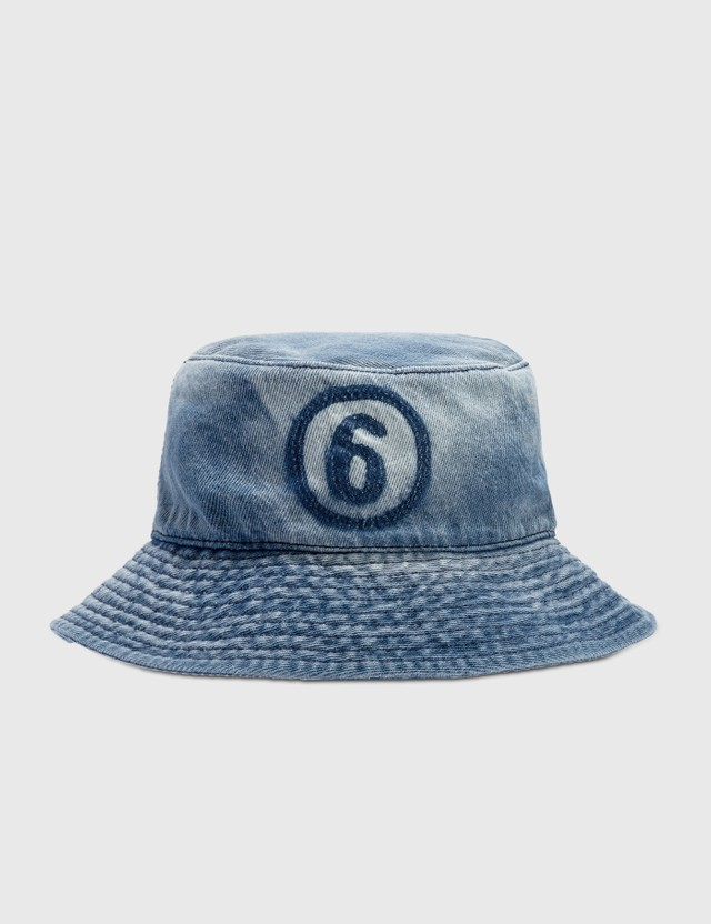 MM6 Maison Margiela 6 Logo Denim Bucket Hat