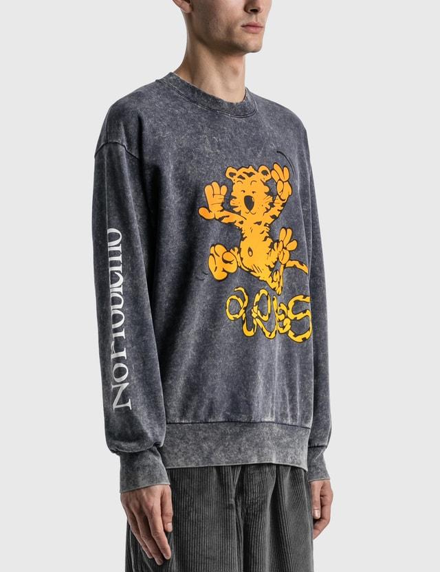 Aries Flatulent Tiger Sweatshirt Nvy Men