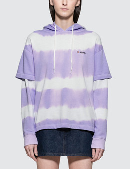 X-Girl Tie Dye Layered Hoodie Picture