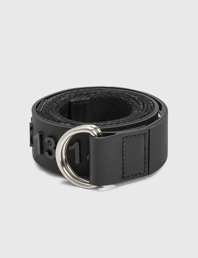Maison Margiela Logo Rubber & Webbing Belt Black/paint Men