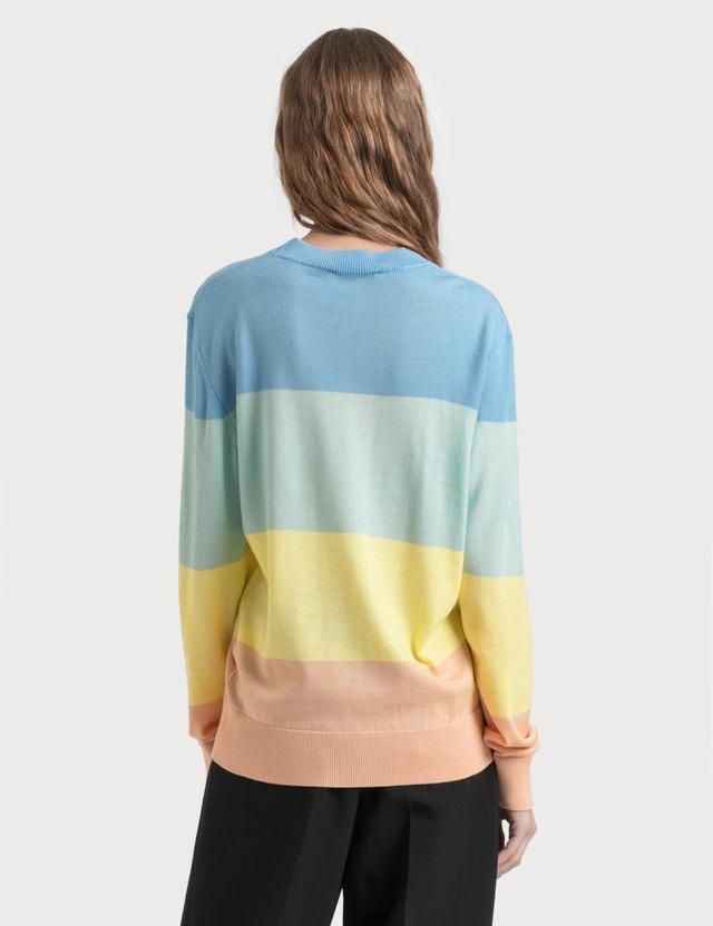 Maison Kitsune Rainbow Stripes Pullover