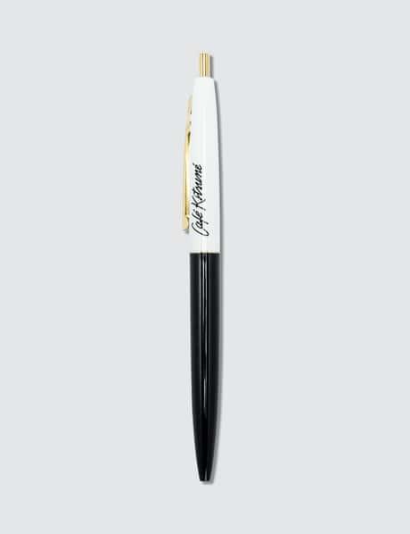 메종 키츠네 <카페 키츠네 컬렉션> 볼펜 화이트 Maison Kitsune Cafe Kitsune Ballpoint Pen-Black Ink