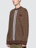 Burberry Monogram Stripe Print Cotton Sweatshirt