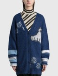 Loewe Oversized Bear Cardigan In Mohair Picture