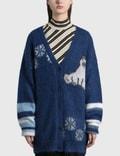 Loewe Oversized Bear Cardigan In Mohair 사진