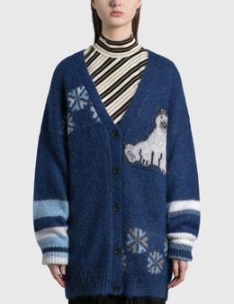 Loewe Oversized Bear Cardigan In Mohair
