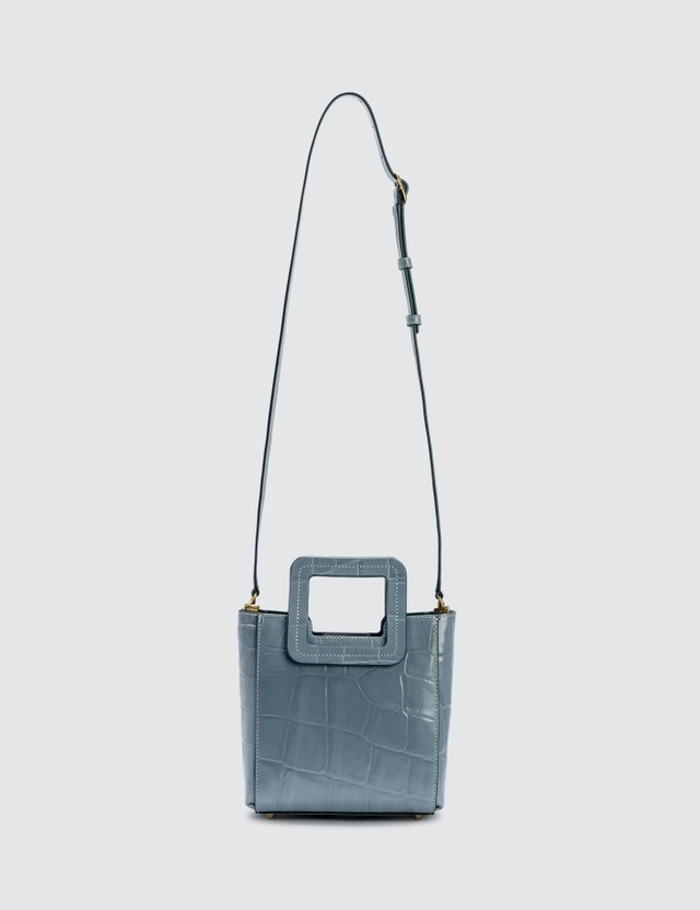 Staud Mini Shirley Croc Embossed Bag