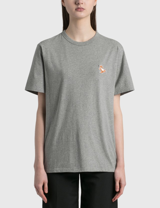 Maison Kitsune Chillax Fox Patch Classic T-shirt Grey Melange Grm Women
