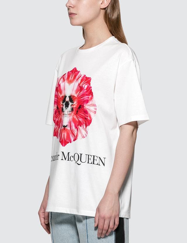 Alexander McQueen Flower Skull T-shirt White Women