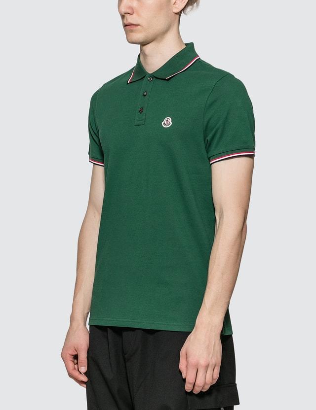 Moncler Polo Shirt Green Men