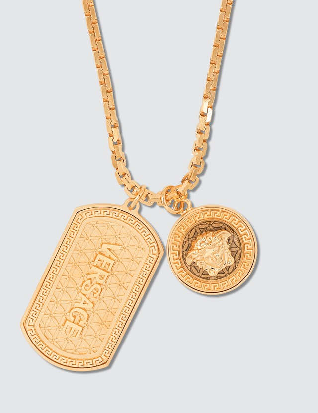 Versace Medusa Necklace With Tag