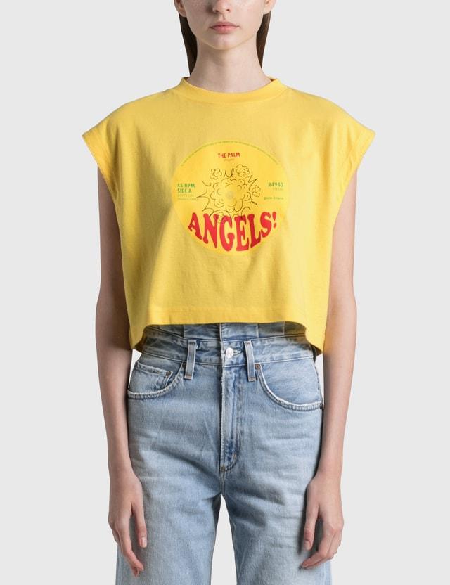 Palm Angels Cotton Muscle T-shirt Yellow Women
