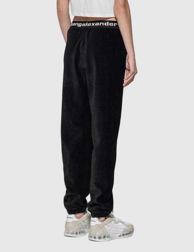 Alexander Wang.T Stretch Corduroy Pant With Logo Elastic