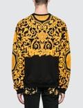 Versace Allover Feather Print Sweatshirt